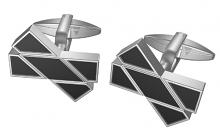 Black 'X Marks the Spot' Cufflinks
