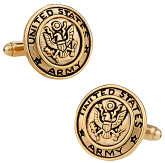 Gold Army Cufflinks