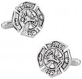 Fireman Shield Cufflinks in Sterling Silver | Canada Cufflinks