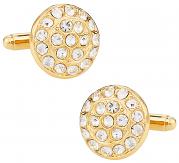 Gold Cufflinks Covered in Swarovski Crystals