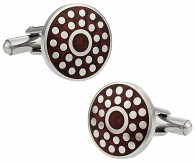 Wood and Dots Cufflinks