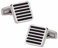 Titanium Cufflinks in Black