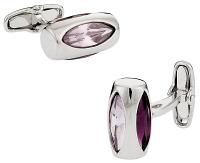 Michael Soho Design Amethyst Glass Vault Cufflinks