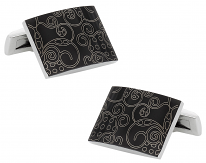 Black Stylish Art Stainless Steel Cufflinks | Canada Cufflinks