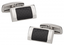 Titanium Cufflinks with a Carbon Fiber Inlay