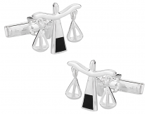 925 Sterling Silver Scales of Justice Cuff Links