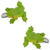 Green Frog Cufflinks   Canada Cufflinks