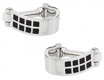 Silver Black Wrap Around Cufflinks | Canada Cufflinks