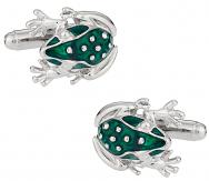 Frog Cufflinks in Green