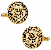Gold US Navy Cufflinks