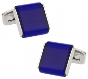 Slab Cufflinks in Blue