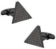 Triangle Cufflinks in Gun Metal