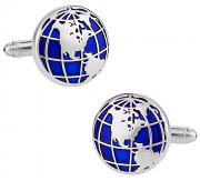 Blue Globe Cufflinks