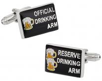 Drinking Arm Cufflinks