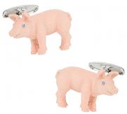 Painted Pig Cufflinks   Canada Cufflinks