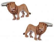 Painted Lion Cufflinks Swarovski