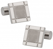 Square Cufflinks in Titanuim