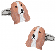 Painted Cocker Spaniel Dog Cufflinks