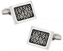 Michael Soho Design Urban Herringbone 2 Cufflinks
