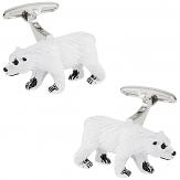 Polar Bear Painted Cufflinks   Canada Cufflinks