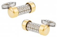 Michael Soho Design Gold Cap Pipe Cufflinks