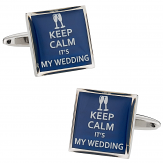 Keep Calm Wedding Cufflinks