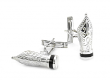 Fountain Pen Nib Cufflinks in Sterling