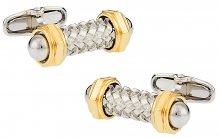 Michael Soho Design Capped Rod Cufflinks with Gold