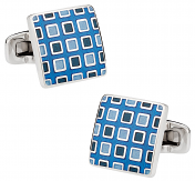 Pixelated Blue Cufflinks   Canada Cufflinks