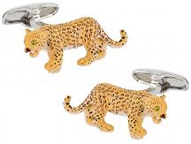 Leopard Cufflinks Painted   Canada Cufflinks