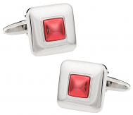 Red Squares Cufflinks
