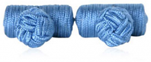 Steel Blue Silk Knots