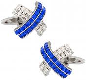 Swarovski Blue X Cufflinks