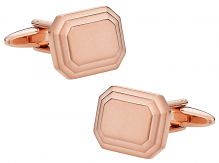 Rose Gold Engravable Cufflinks