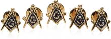 Masonic Stud Set with 5 Studs