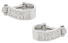 Silver Crystal Wrap Around Cufflinks | Canada Cufflinks