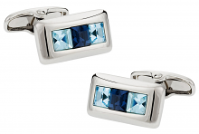 Michael Soho Design Crystal Cufflinks in Blue