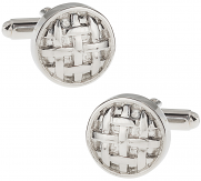 Button Cufflinks of Silver