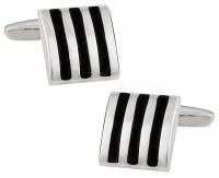 Black Striped Cufflinks
