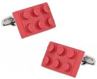 Red Building Block Cufflinks