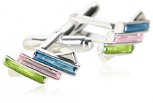 Colorful Sterling Silver Cufflinks