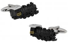 Black Locomotive Train Cufflinks