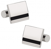 Black Striped Titanium Cufflinks