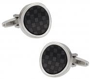 Black Fiber Optic Wave Cufflinks   Canada Cufflinks