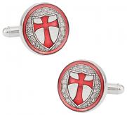 Knights of Templar Silver Cufflinks | Canada Cufflinks