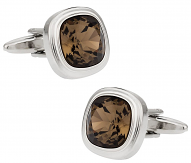 Swarovski Smoky Quartz Crystal Cufflinks