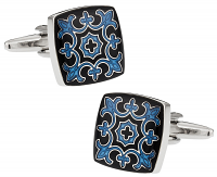 Ornate Fleur Di Lis Cuff Links