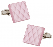 Quilted Metallic Pink Cufflinks