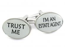 Trust Me Real Estate Cufflinks