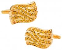 Golden Wave Cufflinks